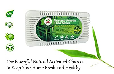 Natural Air Deodorizer and Odor Remover - Activated Bamboo Charcoal Odor Absorber and Air Purifier - Effective Refrigerator and Closet Deodorizer - Removes Unwanted Odor - Prevents Mold and Bacteria