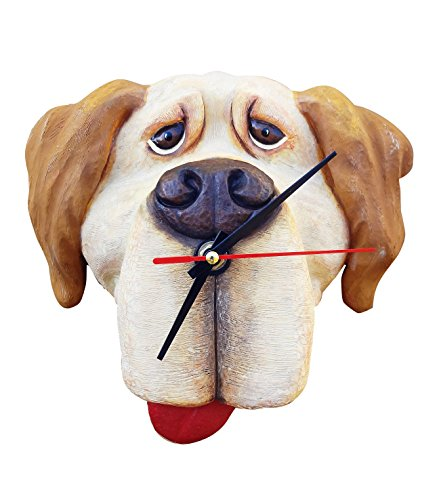 Best New Yellow Lab Labrador Dog Lover Hanging Wall Clock Decor with Magnet Gift Set Silly Gag Funny Novelty Christmas Stocking Stuffer Idea Men Women Her Wife (Crazy Sexy Cool Vinyl compare prices)