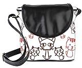 #10: Snoogg Kitties Cute Womens Sling Bag Small Size Tote Bag