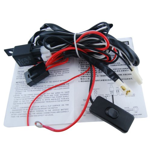 Thg Universal Car Led Fog Lamp 12V 40A 55W Switch Relay Wiring Loom Harness Switch Control Halogen Hid Drl With Fuse