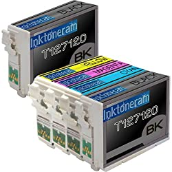1 Pack , 1 Black of Total 5 Remanufactured Epson 127 (Extra High Capacity) Ink Cartridges Epson 127 T127120 T127220 T127320 T127420 Black Cyan Magenta Yellow