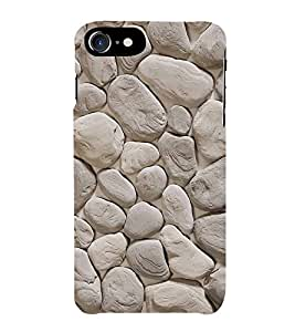 Fiobs Stone Marble Parttern Design Phone Back Case Cover for Apple iPhone 7 Plus (5.5 Inches)