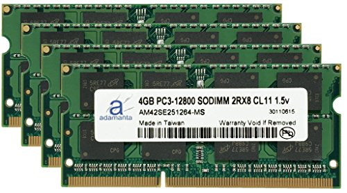 Click to buy Adamanta 16GB (4x4GB) Laptop Memory Upgrade for Toshiba Qosmio X870-02G DDR3 1600Mhz PC3-12800 SODIMM 2Rx8 CL11 1.5v Notebook RAM - From only $123.99