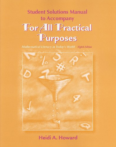 Student Solutions Manual for For All Practical Purposes
