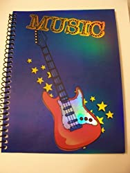 Creatology Spiral Notebook Laser Music Guitar (6 X 8; 70 Sheets, 140 Pages)