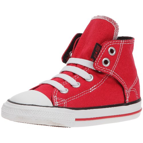 CONVERSE Unisex-Child Chuck Taylor All Star Easy Slip Slip Hi Trainers 064170-21-4 Rouge 10 UK, 26 EU