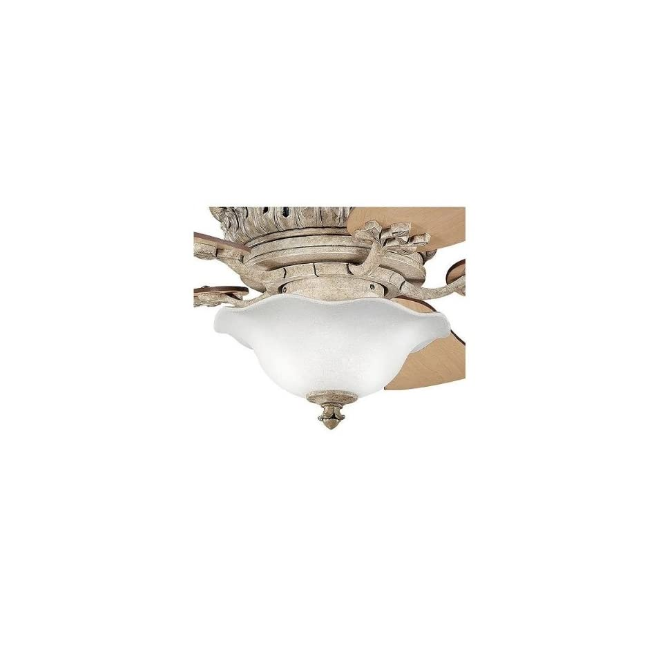 Kichler Lighting 380004MUL Heather 3LT Ceiling Fan Light Kit, Dusty Satin Glass Shade with Mission Copper (MCO) and Antique Marble (AMS) finials