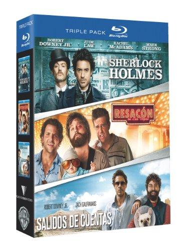 Sherlock Holmes + Resacon En Las Vegas + Salidos De Cuentas [Blu-ray]