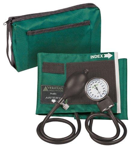 Veridian 02-12806 Aneroid Sphygmomanometer Kit, Adult, Hunter Green