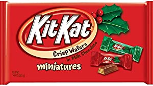 Kit Kat Holiday Minis, Crisp Wafers in Milk Chocolate, 10-Ounce Bags (Pack of 4)