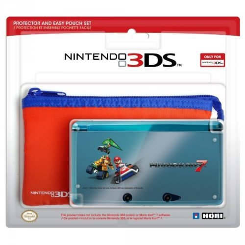 HORI 3DS Protector and Pouch Set (Mario Kart 7 version)