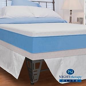 "Night Therapy Elite 13"" MyGel® Prestige Memory Foam Mattress & Bed Frame Set - Queen"