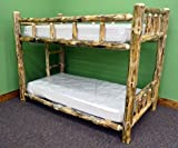 Midwest Log Furniture - Rustic Log Bunkbed - Twin