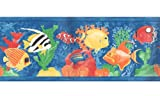 Tropical Fish Prepasted Wall Border Roll