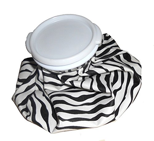 Reuseable theraputic therapy cool compress ICE PACK bag – Hot or Cold – 7.5″ (Black & White Zebra)