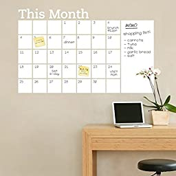 Fange DIY Removable This Month and Monthly Calendar Dry Erase Board Art Mural Vinyl Waterproof Wall Stickers Living Room Decor Bedroom Decal Sticker Wallpaper 35.4\'\'x23.6\'\'