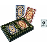 KEM Paisley Bridge Size 4-Pips Index Playing Cards
