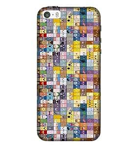 IP5C Multi Color Pattern Phone Back CoverPE43