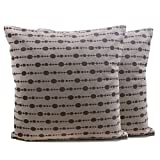 Store Indya Set of 2 Cotton Cushion Covers Hand Woven Dot Printed Throw Pillow Case Home Sofa Decorative (17 X 17) inches