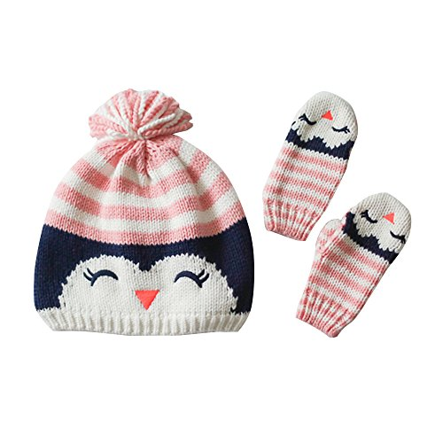 Toubaby Baby Girls Winter Hats Gloves Suits Owl