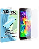 SDTEK Samsung Galaxy S5 Verre Trempé Protecteur d'écran Protection Résistant aux éraflures Glass Screen Protector Vitre Tempered