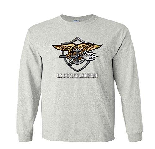Fair Game Us Navy Seals Long Sleeve T-Shirt Devgru-Ash-Medium