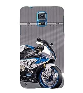 Expensive Blue Bike 3D Hard Polycarbonate Designer Back Case Cover for Samsung Galaxy S5 Mini :: Samsung Galaxy S5 Mini G800F