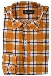 Edinwolf Men's Formal Shirt (EDFR711_40, Yellow, 40)