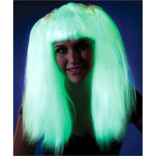 Glow in the Dark Pigtails Wig - One Size