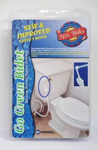 Mrs Bidet White Spray Attachment Fot Toilet Complete Kit