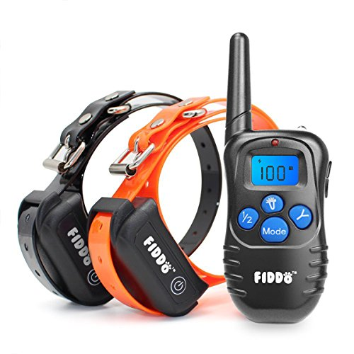 Fiddo Electric 2 Dog Collar 330 Yards Remote Dog Training E-collar with Beep/Vibration/Shock Electric (Dog Training Collars For 2 Dogs compare prices)