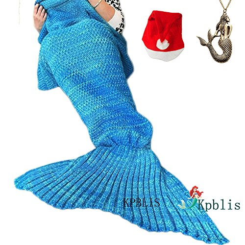 Kpblis174;Knitted Mermaid Blanket Tail for Kids and Adults,Super Soft and Fashion Sleeping Bags 75