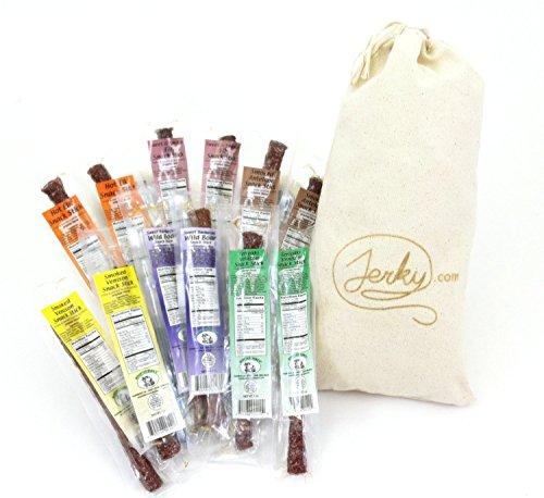 Wild Game Jerky Sticks Sampler Gift Bag - Best