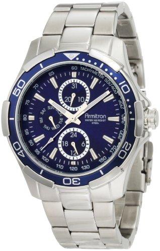armitron-mens-204677blsv-stainless-steel-bracelet-watch