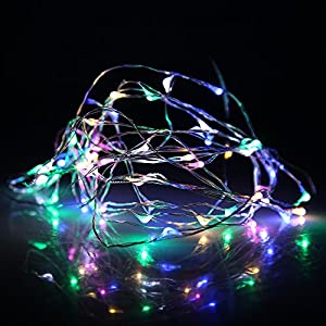 (7 Different Colors) DBPOWER 50 LED/100 LED Led String Lights 5M/10M (16.5ft/33ft) Copper Wire LED Starry Light for Outdoor, Gardens, Christmas, Homes, Wedding and Party by DBPOWER