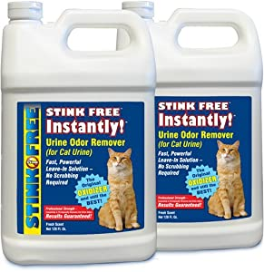 STINK FREE Instantly Urine Odor Remover for Cat Urine, 2 128-Oz (2 1-Gallon Jugs)
