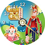 Candy Crush Saga Novelty Cd Clock + Free Desktop Stand