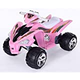 Sporty Battery-powered Electric 4-Wheeler Ride On Cars for Girls Pink