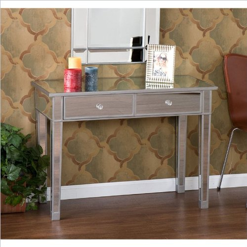 Silver Mirrored Furniture back-1080044
