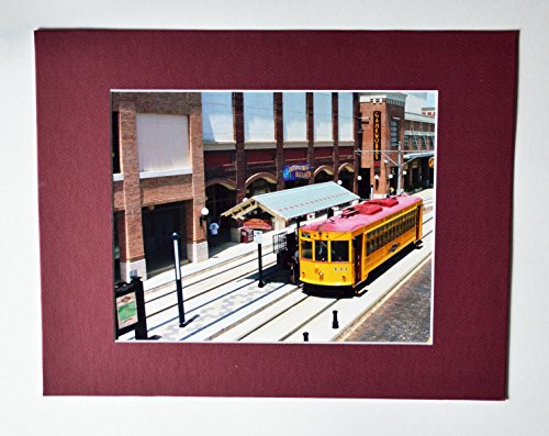 Electric Trolley Ybor Distict Tampa, Fl Collectible Photo With 11X14 Mat