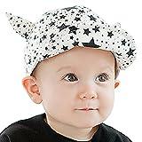 Meilleur reve(メイヤーリーブ)【選べる2色】 ベビー キャップ cap 赤ちゃん キッズ 帽子 星 柄 日よけ とんがり 可愛い (02ホワイト)