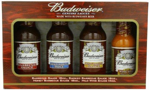 Budweiser Genuine Sauces Gift Set, 4 pack