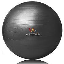 Exercise Ball for Yoga Fitness Pilates Sculpting (Black, 75 cm)
