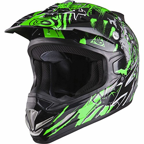 Shox MX-1 Nightmare Motocross Helmet M Black/Green