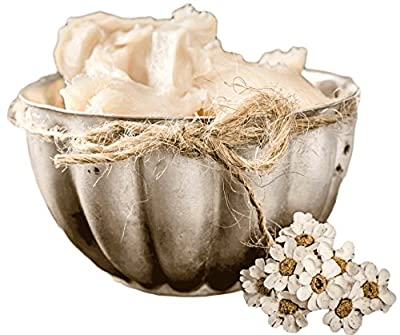Pure Ivory Shea Butter- 1 LB Raw Organic African Shea. Make Natural DIY Beauty Products- Whipped Body Butter, Salves, Lip Balm, Baby Lotion. Unrefined Shea Has Many Benefits. Your Skin Will Love It! Fair Trade. 100% Money Back Guarantee.