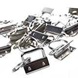 BCP 25sets 1 Inch Key Fob Hardware /Wristlet Sets with Key Ring