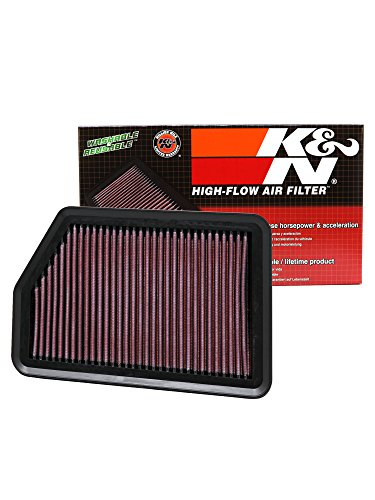 K&N 33-2451 High Performance Replacement Air Filter for 2010-11 Hyundai Tucson 2.0/2.4L L4