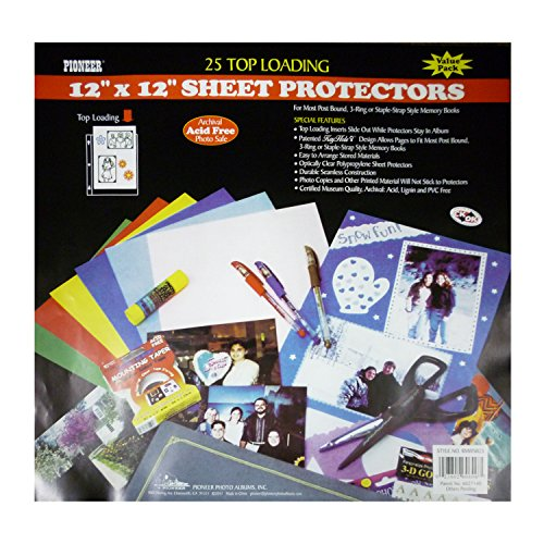 Pioneer Bulk Sheet Protectors for 12 x 12 Pages (Pack of 25) (12x12 Top Loading Refills compare prices)