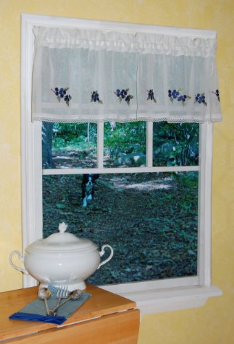 Curtain Chic Garden Path Valance, Blueberry - 1