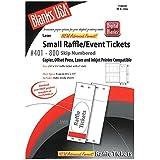 office depot raffle ticket template - digital small raffle event tickets 400 pack